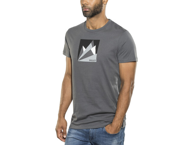 Millet Fan Mountain Short Sleeve Shirt Men tarmac